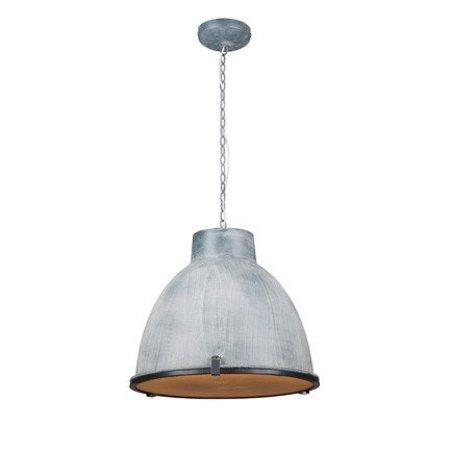 Luminaire suspendu vintage noir, blanc, gris, béton 42cm Ø