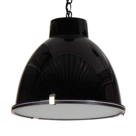 Industriële hanglamp wit, beton, grijs, zwart 42cm Ø E27
