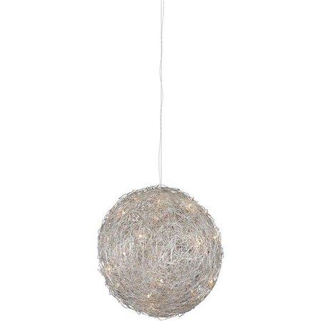 Luminaire suspendu boule fil de fer 40cm G4x8