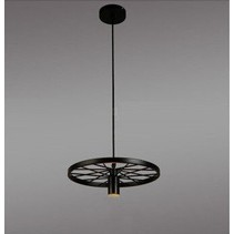 Wheel becomes industrial pendant light for LED lighting