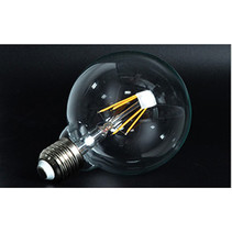LED bulb light round 6W filament E27