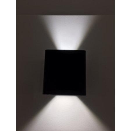 Applique murale exterieure noire/blanc/argent LED 2x5W