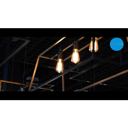 Pendant light black or rust E27x3 1000mm long
