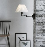 Plug in swing arm wall lamp E27 with lamp shade