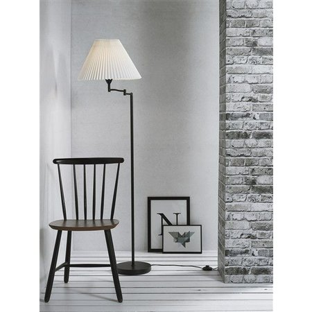 Arm floor lamp E27 with lamp shade