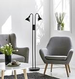Dubbele vloerlamp dimbaar zwart of chroom