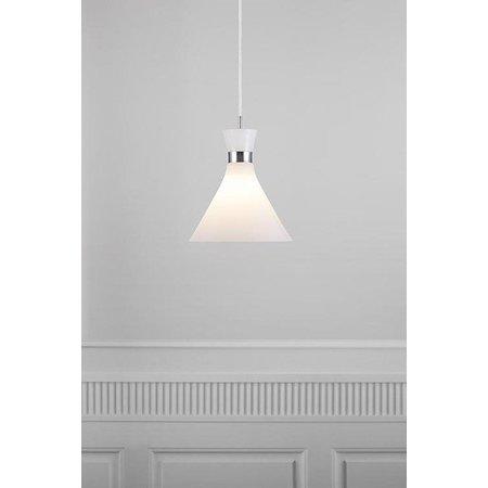 Trompetlamp wit met chroom E27