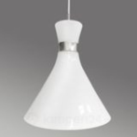 Trumpet pendant white with chrome E27