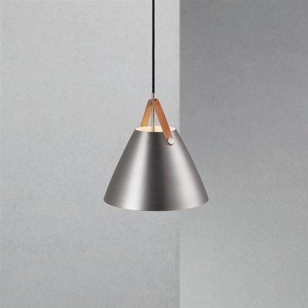 Scandinavian pendant light white, black, brass, glass 27cm Ø
