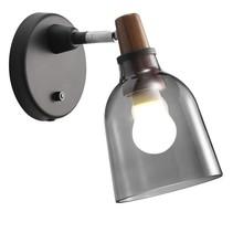 Applique verre fumé E14 14 cm Ø