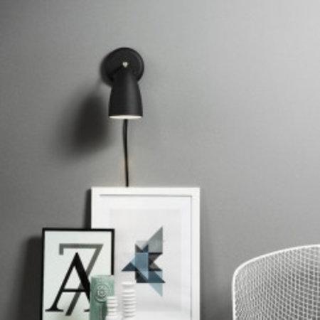 Wandlamp dimbaar zwart of wit Scandinavisch E27