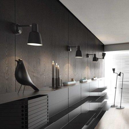 Dimmable wall lamp black or white Scandinavian E27
