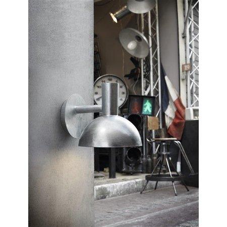 Muurlamp industrieel buiten zwart of gegalvaniseerd E27