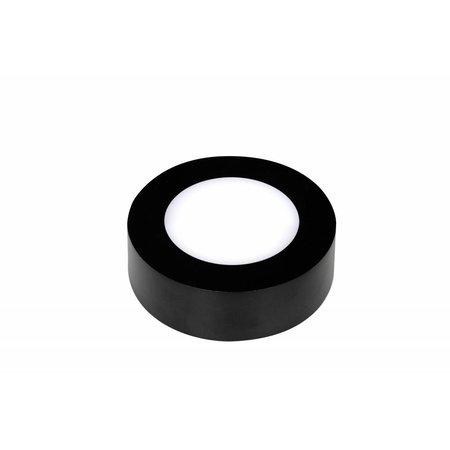 Kleine dimbare plafonniere rond 6W zwarte rand of wit