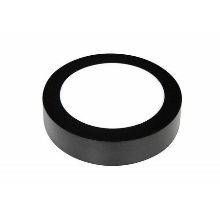 Ronde plafonniere 12W wit zwarte rand
