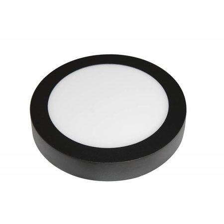 Moderne plafonniere 18W wit rond zwarte rand