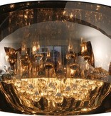Unusual ceiling light crystal glass 40cm Ø or 50cm Ø
