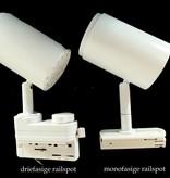 Spot sur rail LED dimmable blanc ou noir 12W