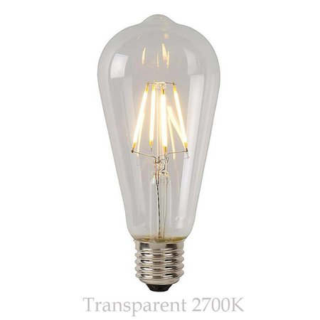 LED kooldraadlamp lang dimbaar 5W amber of transparant