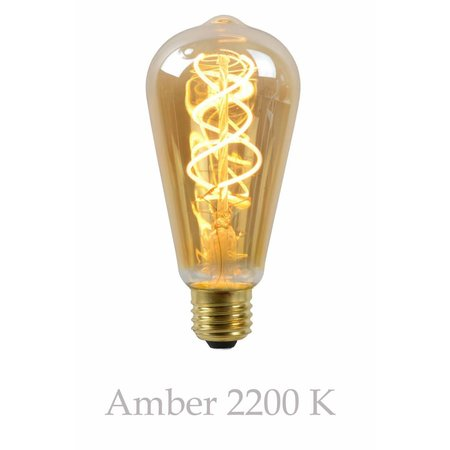 Long LED filament 5W amber or transparent