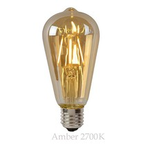 Long LED filament 5W amber or transparent