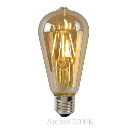 Ampoule sphérique LED 5W ambre ou transparent