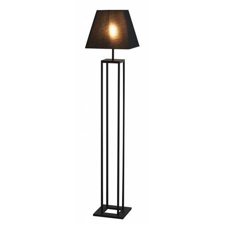 Staande vloerlamp landelijk zwart E27
