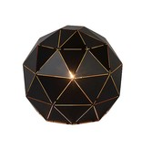 Geometric table lamp black or white 25 cm Ø
