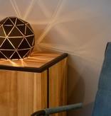 Lampe de salon design à poser noir doré ou blanc 25 cm Ø