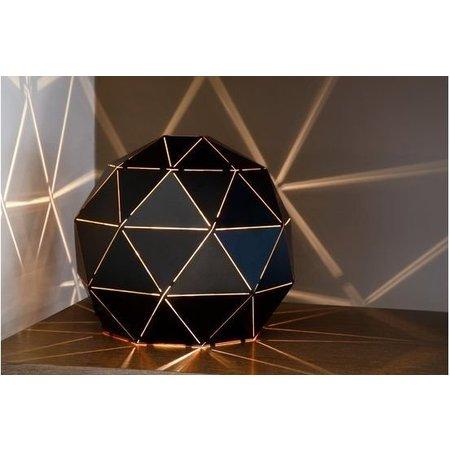 Tafellamp sfeer zwart-goud of wit 25 cm Ø