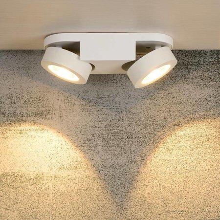 Plafonnier 2 spots LED blanc 2x5W
