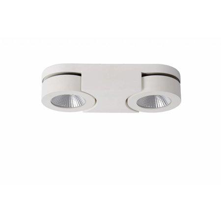 Moderne plafondspot wit LED 2x5W