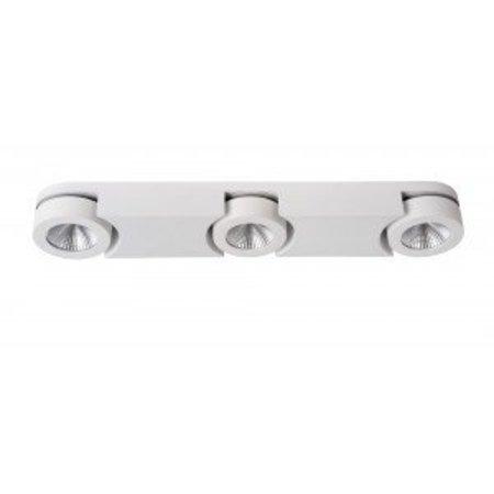 Plafonnier 3 spots LED blanc 3x5W