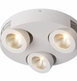 3 way spotlight LED round white 3x5W