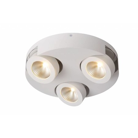 Plafonnier 3 spots rond blanc LED 3x5W