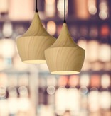 Design hanglamp hout kleur 24cm diameter E27