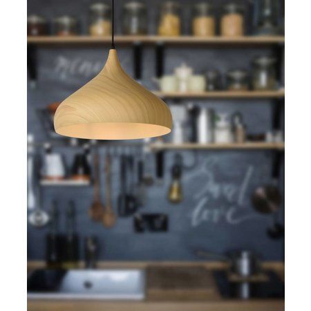 Design hanglamp hout kleur 42cm diameter E27
