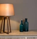 Rustic table lamp shade rust E27 63cm H
