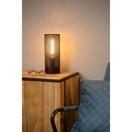 Metalen tafellamp zwart, messing of chroom E27