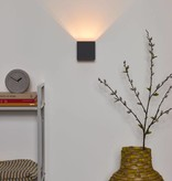 Vierkante wandlamp zwart goud, wit of grijs LED 4W