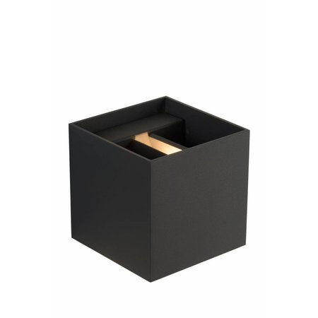 Square wall lamp black gold, white or grey LED 4W