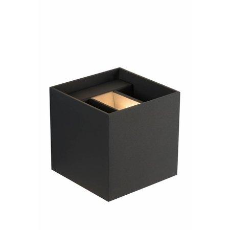 Vierkante wandlamp zwart goud, wit, grijs, goud messing of koffie LED 4W