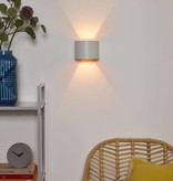 Up down wall light black gold, white, grey, gold brass or coffee LED rounded
