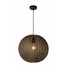 Luminaire oriental noir doré 38,5cm Ø E27