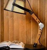 Table lamp wood arm vintage E27
