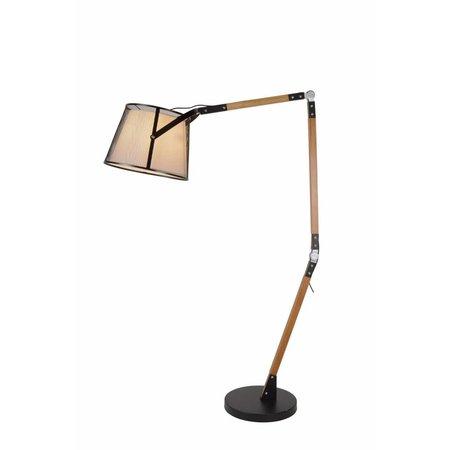 Lampe déportée vintage bois abat E27