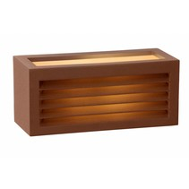 External wall light black or rust E27