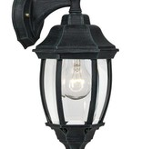 Lantern wall lamp black or antique green E27