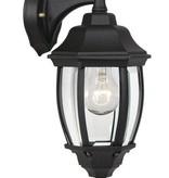 Lantaarn wandlamp zwart of antiek groen E27