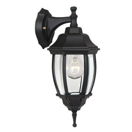 Lantaarn wandlamp zwart, wit of antiek groen E27